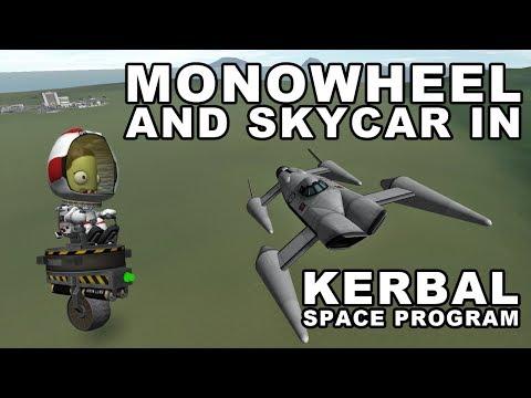 Monowheel and amphibious Skycar in Kerbal Space Program - (Build plus Fail Compilation) |