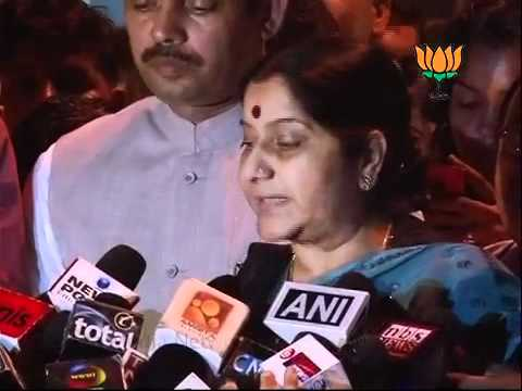 BJP Byte on All Party Meets & Lokpal Bill: Smt. Sushma Swaraj: 24.08.2011