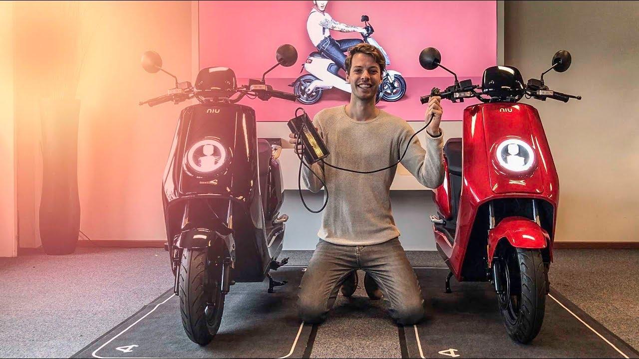 de beste elektrische scooter van 2018 niu n1s youtube. Black Bedroom Furniture Sets. Home Design Ideas