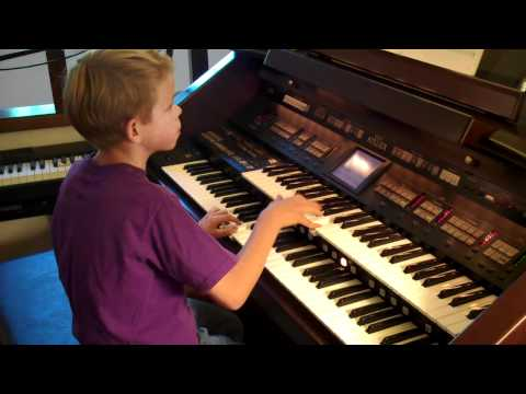 """James Shawcross, 11, performs """"Great balls of fire"""""""