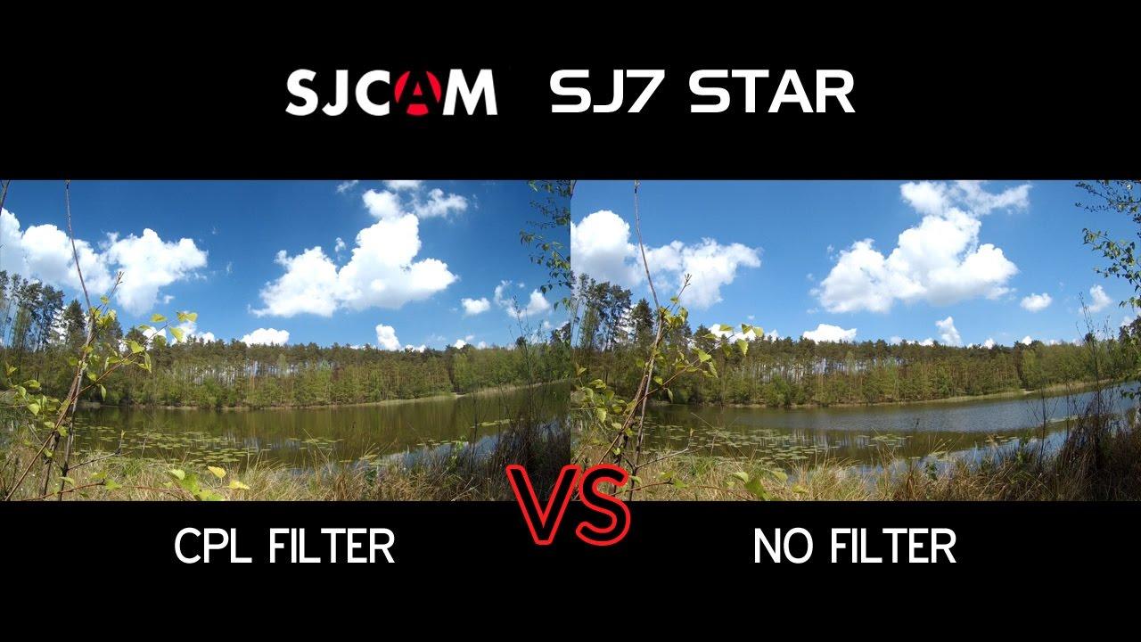 Sjcam Sj7 Star Cpl Filter Polarizer Vs No Filter