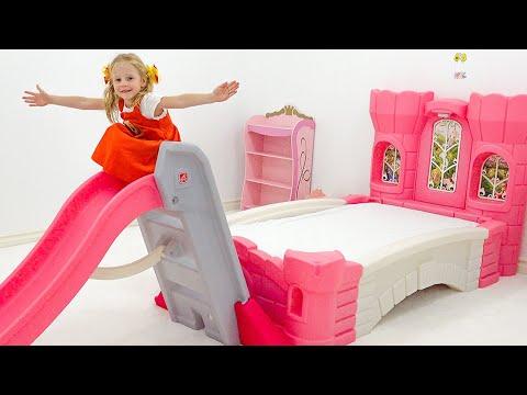 Nastya y papá historias divertidas sobre las nuevas habitacionesde princesas