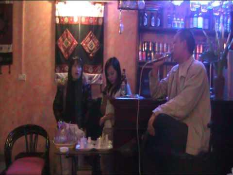 """Karaoke in Sapa (Vietnam)  - Local people performing the hit """"Viet Nam"""""""