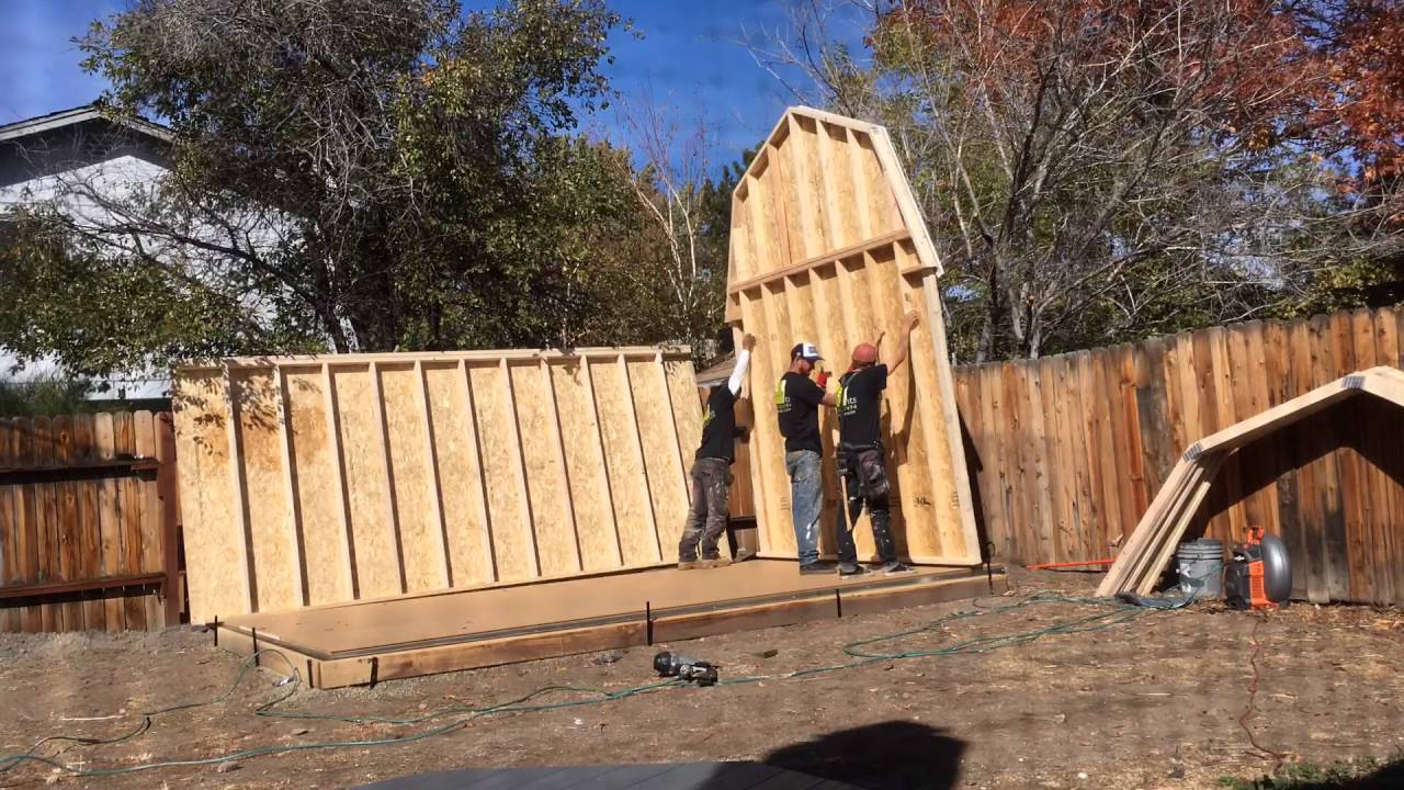 Tuff shed in 3 minutes!