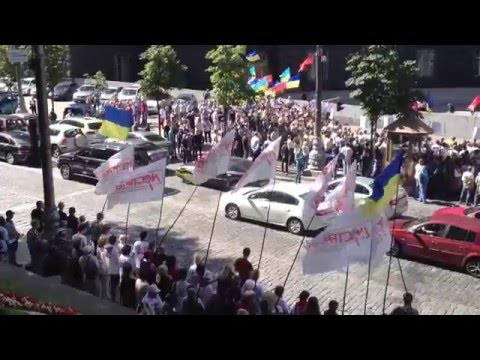 Protest Rally Near Cabinet Of Ministers In Ukraine