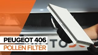 Air conditioner filter installation PEUGEOT 406: video manual