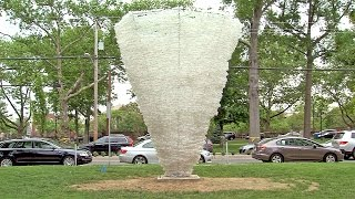 10,000 Water Bottles Transform NJ Village Green: Willie Cole Sculpture in Summit Through May 2015