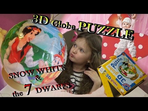 Snow White and the Seven Dwarfs 3D Globe PUZZLE D- TOYS 💜 TheChildhoodLife 💜 Marilyn & Kate Claudia✔