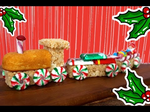 CHRISTMAS TRAIN - Easy No Bake Xmas Cooking With Kids!