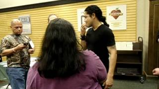 Chris Perez in Houston Texas with my friend Tommie 3/6/12
