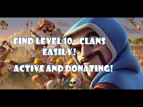 How To Find High Level Active Clans Easily || Clash Of Clans