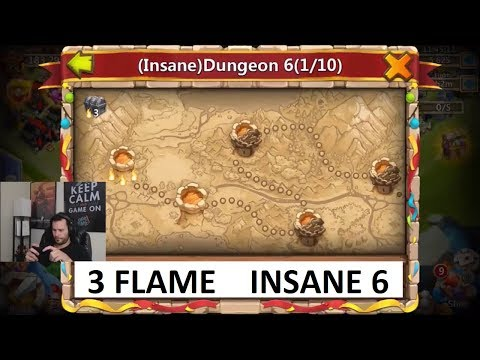 JT's Free 2 Play INSANE Dungeons 6-2 Through 6-9 ALL 3 Flamed Castle Clash