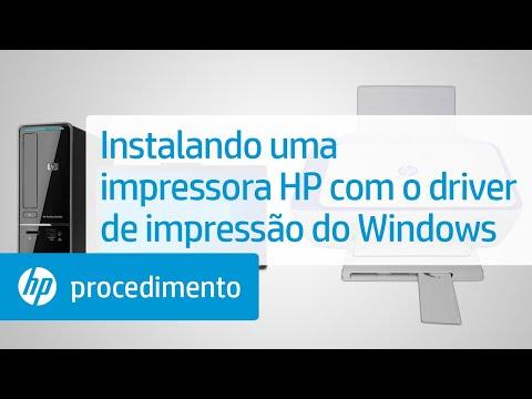 Instalando uma impressora HP com o driver de impressão do Windows