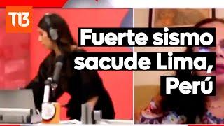 Fuerte sismo magnitud 6 sacude Lima, Perú