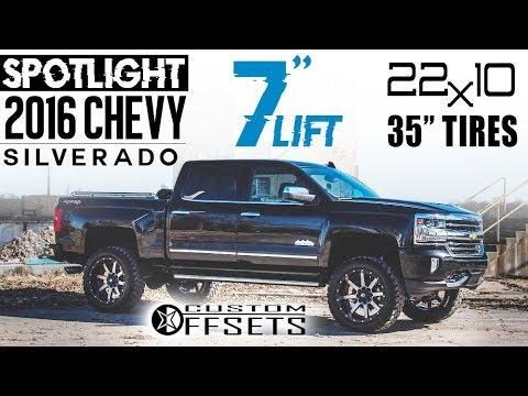 "Spotlight - 2016 Chevy Silverado 1500, 7"" Lift, 22x10 - 24 ..."