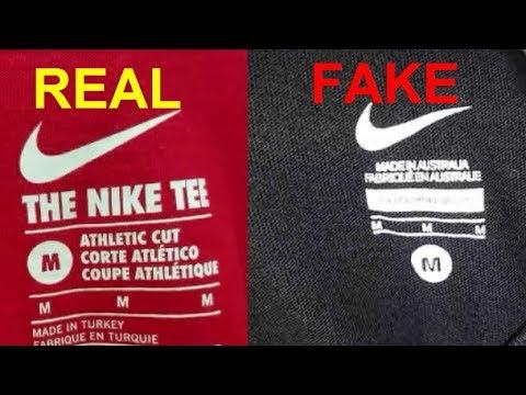 How To Spot Fake Nike T Shirt. Real Vs Fake Comparison