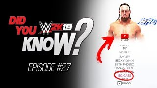 WWE 2K19 Did You Know? Hidden Big Cass Found, Blackout Matches & More (Episode 27)