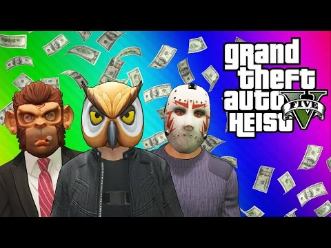 Thumbnail: GTA 5 Heists #1: Stealing the Plane & Prison Bus! (GTA 5 Online Funny Moments) [Part 1]