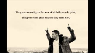 Macklemore x Ryan Lewis - Ten Thousand Hours (lyrics)