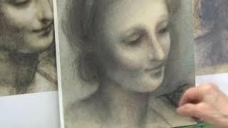 サクラアートサロン大阪「レオナルド・ダ・ビンチに学ぶ 光と影のヒミツ 美しい木炭・パステルで描く部分模写」