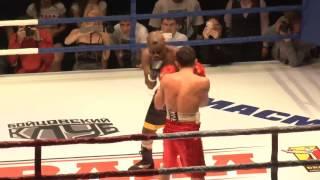 Профессиональный бокс Гривачев - Меттле (нокаут) (26 10 2013)(26 октября в Чите в