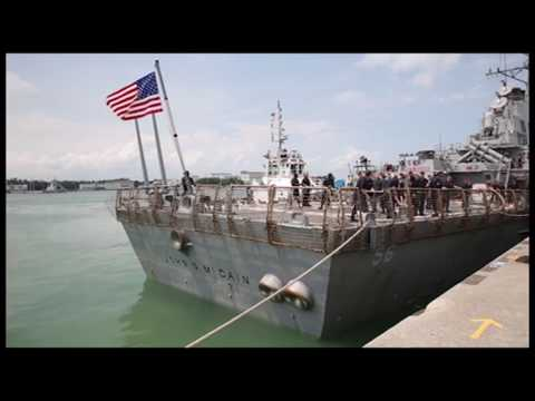 USS John S. McCain arrives in Singapore after collision