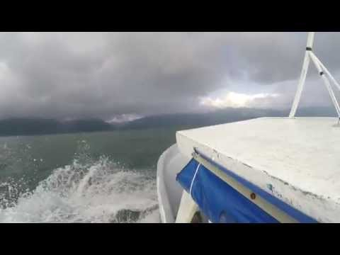 4K Video - Lago - Lake Atitlan, Guatemala Boat ride Santiago to Panajachel - GoPro - Oct 2015