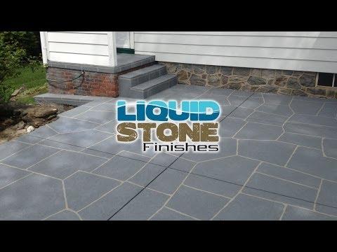 Concrete Restoration, concrete resurfacing, epoxy coating Newtown CT Liquid Stone Finishes