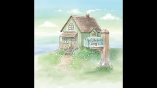 Watercolor Painting in Photoshop - Charming House Landscape - Time Lapse Video