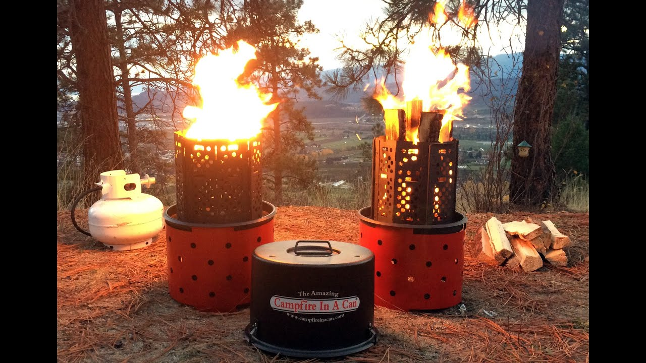 NEW 3-In-1 Portable Campfire from Campfire In A Can - YouTube