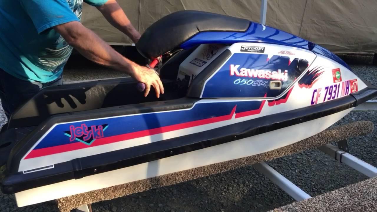 1991 kawasaki sx650 stand-up jet ski - youtube