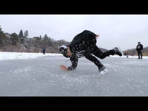 ICE BREAKING ON A LAKE 2017 Freestyle Ice Skating Toronto