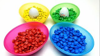 Hide & Seek Toys in M&M's Game - Kinder Surprise Egg and Minion