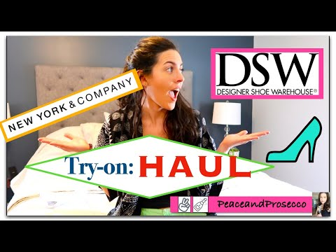 DSW Shoes + New York And Company Shopping Haul | June 2020 | PeaceandProsecco