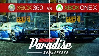 Burnout Paradise Remastered Comparison - Xbox 360 vs. Xbox One X