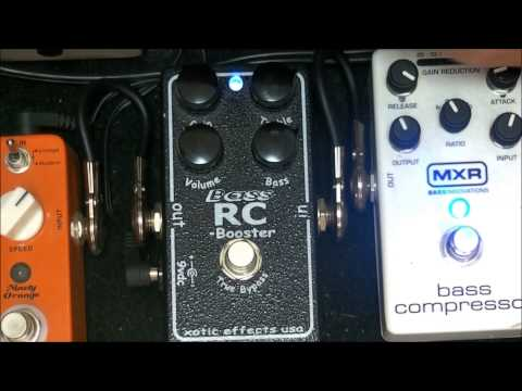 Xotic Bass RC Booster pedal - Demo
