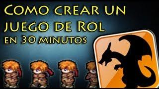 Como crear un juego de rol en 30 minutos | con RPG Maker