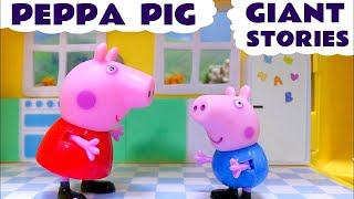 Peppa Pig English Episodes 1 Hour Compilation Thomas Toys Play Doh Surprise Eggs MLP Kids Stories