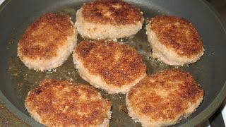 Meat Cutlet Recipe. Homemade Burger Patties. How to Make Pan Fried Potatoes.
