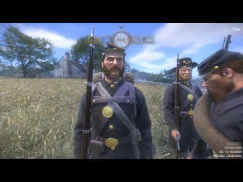 War of Rights - Union - Skirmish - A Fresh Field Officer, a Veteran NCO, and a Battle Line of Blue