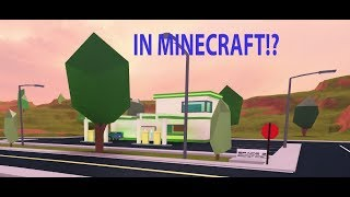 So i built the Roblox Jailbreak gas station in minecraft... | Minecraft Building