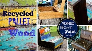 How To Build A Pallet Wood Chair, And  Paint Weathered Wood Finish.