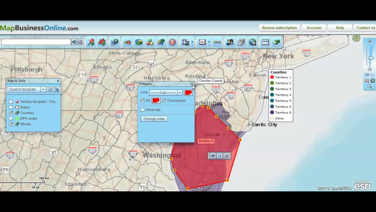 How to Build Sales Territories From Scratch Using Polygon Search - Map Business Online on map business people, gis maps online, map games online, home business online, restaurant business online, mind map online, map business software,