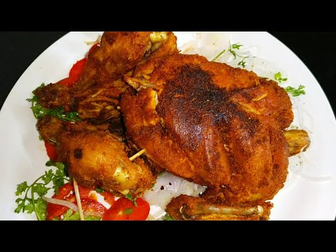 Whole Chicken Roast Without Oven Recipe | Simple Chicken Roast