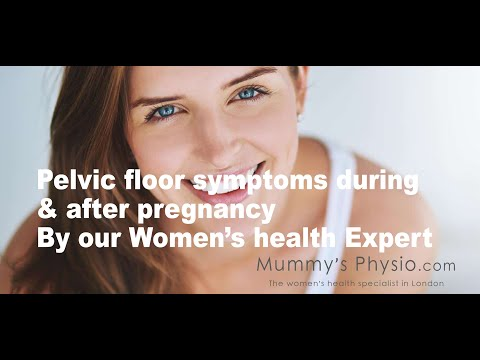 Pelvic floor symptoms that can be treated during and after pregnancy