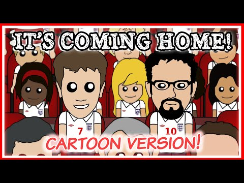 Three Lions on a Shirt (Football's Coming Home) - Cartoon