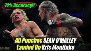 Sean O'Malley vs Kris Moutinho Highlights (Incredible 72% Accuracy) [All Strikes Landed]