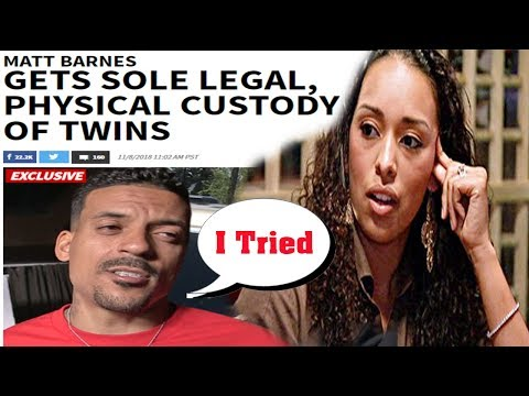 Matt Barnes gets Full Custody of Twins