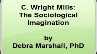 describe what c wright mills meant by the term sociological imagination The idea of sociological imagination was created by c wright mills in 1959 to describe the special way sociologists look at the world to understand the term `sociological imagination', it is important to identify what sociology is and what do sociologists study.