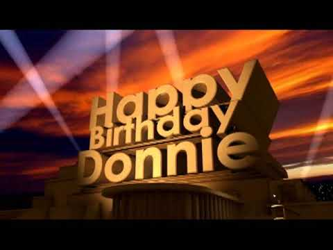 Happy Birthday Donnie